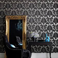 Black And Gold Damask Curtains graham u0026 brown superfresco easy majestic black and gold wallpaper