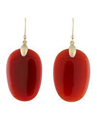 ted muehling earrings ted muehling large carnelian chip earrings