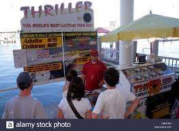 Ticket Desk Miami Florida Bayside Marketplace Marina Biscayne Bay Thriller