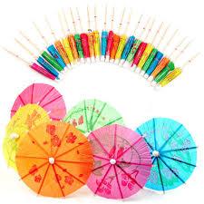 aliexpress com buy 50 pcs lot umbrellas drinks picks paper