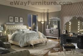 Creamy Pearl White Leather Crystal King Bed Bedroom Set Master - White leather queen bedroom set