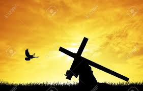 christ carrying the cross stock photo picture and royalty free