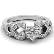 heart shaped wedding rings wedding rings princess cut bridal sets 2 carat heart shaped