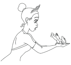 Prince And Princess Wedding Day In The Frog Coloring Pages Princess And The Frog Colouring Pages
