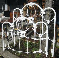 white metal bed frame ikea double ebay bunk