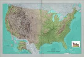 Map Of The United States With Landforms by The National Atlas Of The United States Of America Perry