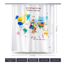 Map Of The World Shower Curtain by World Map Shower Curtain Canada Home Decorating Interior Design