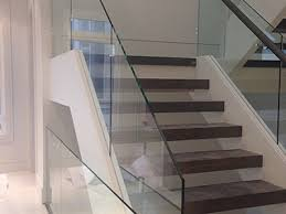 Banister Glass Interior Glass Stair Railings Toronto Glass Entrances Shower
