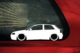 audi decals 2x low audi s3 a3 8l tdi 1 8t silhouette outline stickers decals
