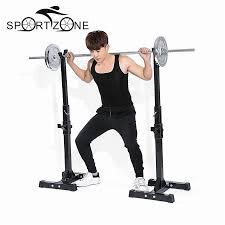 tomshoo pair of adjustable rack standard sturdy steel squat stands
