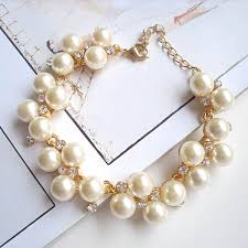 pearl bracelet with charm images Hot sale fashion pearl cz diamond bracelets bangles bead jewelry jpg