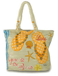 flip flop bag flip flop tote monogram embroidered