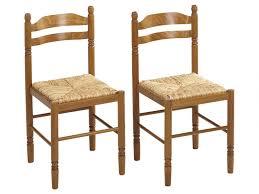 lot de 2 ou 6 chaises jeanne hêtre massif teinté chêne
