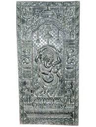 carved cabinet door panels standing buddha carved door panel carving india 72 inch 799 00