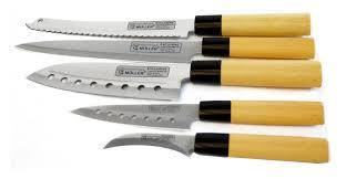 set de couteau de cuisine couteaux de cuisine japonais set de 5 pieces bloc coutellerie