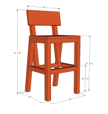 Wooden Bar Stool Plans Free by Ana White Harriet Higher Chair Diy Projects