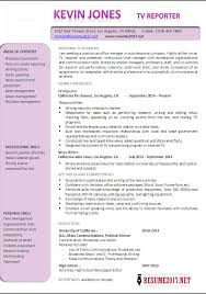 Sample Journalism Resume by Reporter Resume Examples 2017 Latest Templates U2022