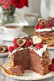chocolate raspberry dessert chocolate rasperry mini crepe cakes sugarhero