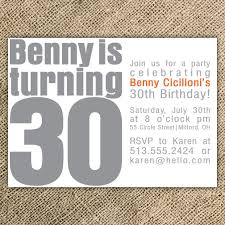 30th birthday party invitation wording cimvitation