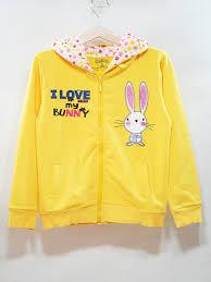 o khoác bé gái thªu thá  I love Bunny