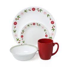 corelle livingware pink 16 dinnerware set service