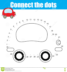 connect the dots educational drawing children game dot to dot