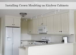 How To Install Kitchen Cabinet Crown Molding Adding Crown Moulding To Wall Kitchen Cabinets Momplex Vanilla