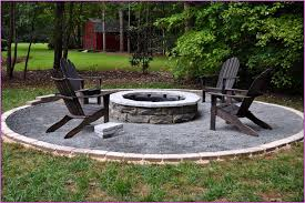 fire pit sand patio small backyard fire pits with brown wooden folded chairs on