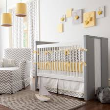 Zig Zag Crib Bedding Set Baby Nursery Gray And Yellow Zig Zag Crib Bedding Bold Chevron