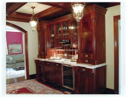 polished figured mahogany wet bar with granite top packard