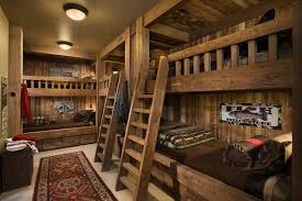rustic bedroom decorating ideas bedroom bedroom with built in bed and bunk beds plus ladder bunk
