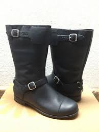 ugg s gershwin boots black ugg gershwin black leather biking boots us 7 5 eu 38 5 uk 6