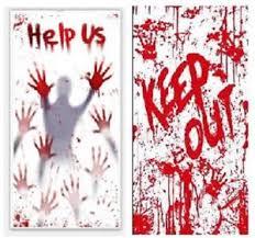 2pk bloody window door poster halloween scene setters wall