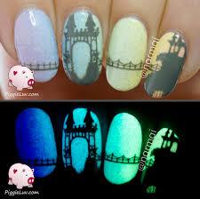 piggieluv freehand castle on pastel gradient nail art video