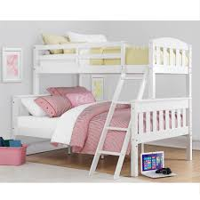 Bunk Beds  Full Over Full Bunk Bed Twin Over Full Bunk Bed With - White bunk beds twin over full with stairs