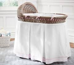 Wicker Crib Bedding Bassinet Bedding Pottery Barn