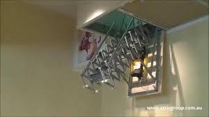 fantozzi electric attic ladder attic group youtube
