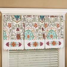 cote d azur bohemian embroidered valance window treatment
