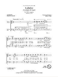 lullabye goodnight my ttbb a cappella sheet by