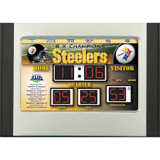 team sports america nfl scoreboard desk clock walmart com