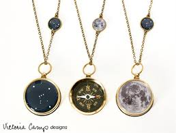 custom necklace charms and moon custom working constellation compass charm necklace