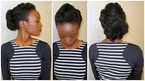 black girl bolla hair style flower fishtail bun on 4c natural hair youtube