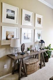decorating superb mosaic mirror and painting for living room wall
