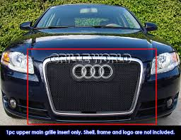 audi aftermarket grill fits 2006 2007 audi a4 model black stainless steel mesh grille