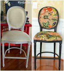 How To Make Furniture Look Rustic by How To Give New Look To Old Fabric Bar Stools Whats Ur Home Story