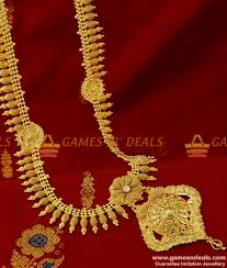 gold flower necklace designs images Arrg150 grand bridal design flower dollar haaram mullai arumbu jpg