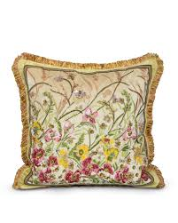 strongwater pillows strongwater square poppies pillow neiman