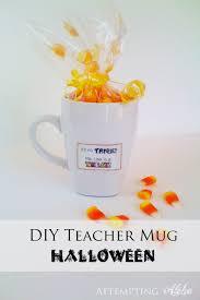 Halloween Teacher Gifts by Attempting Aloha Halloween Teacher Mug Gift