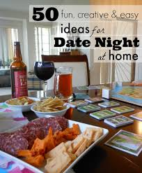50 creative date ideas for at staying at home 50th