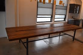 wood conference tables for sale handmade reclaimed wood conference table with pipe legs by reworx